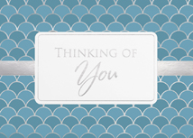 Geometric Design Thinking of You Greeting Card